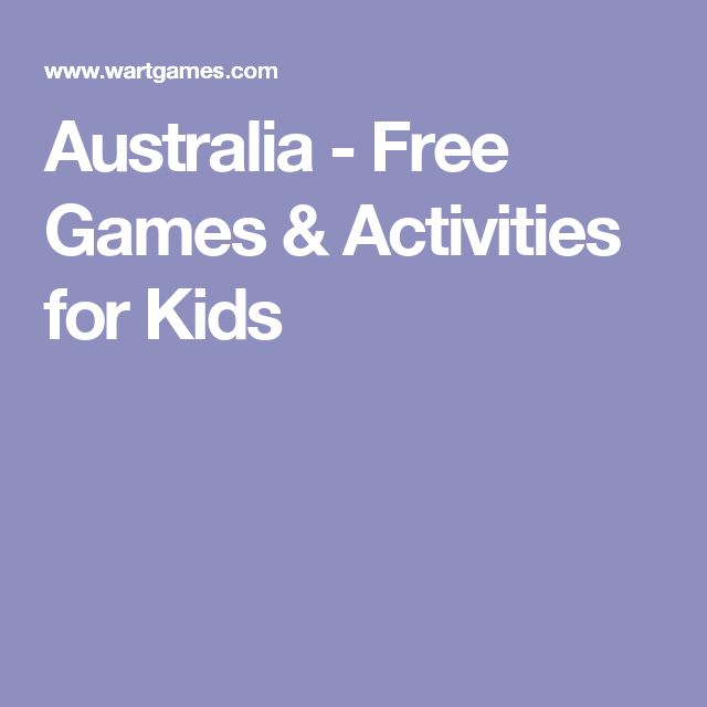 Australia - Free Games & Activities for Kids