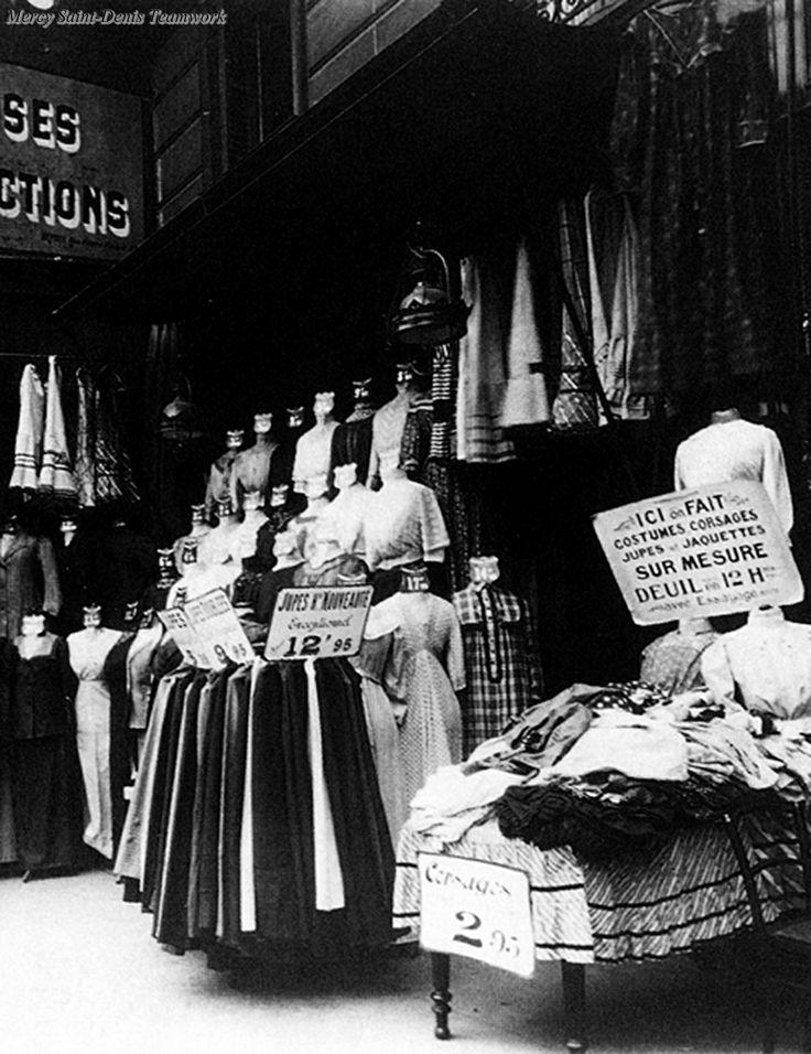 Parisian boutique, 1911, by Eugene Atget.