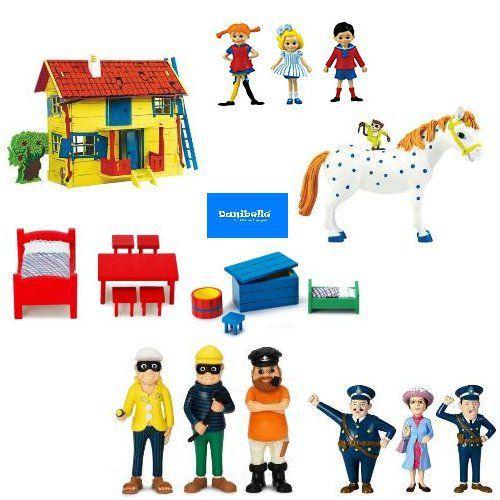 Pippi langkous poppenhuis meubeltjes en figuren SETAANBIEDING   LUNTEREN   bieden.nl