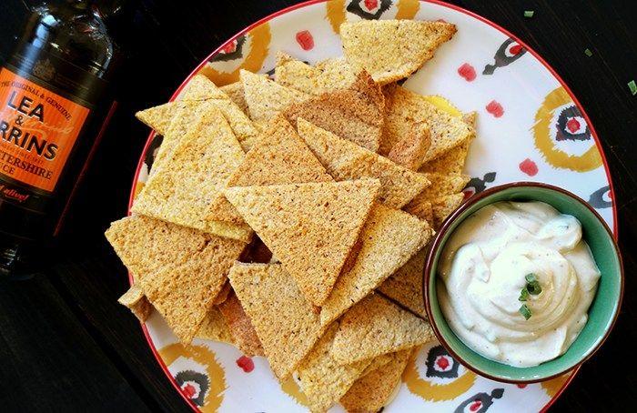Tortilla Chips leicht im Ofen gebacken