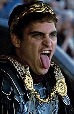 Joaquin Phoenix magnificent as the odious Emperor Commodus in Gladiator (2000)
