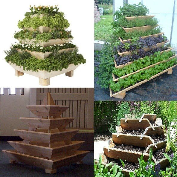 If you live in an apartment or do not have much room to garden, then use a garden pyramid to plant all kinds of things. They can work on balcony's, backyards and in the home. Space saving ideas for gardening...build up...not out.     This type of gardening could be ideal for someone who is in a wheelchair or elderly. Nice ideas for loved ones who want to garden too.