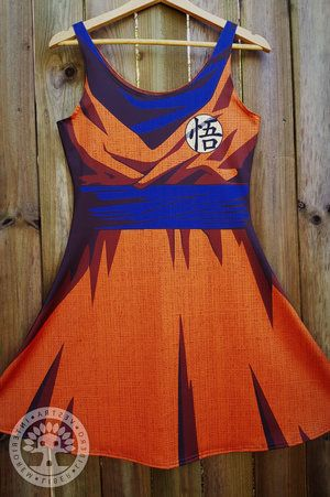 Dragon Ball Z Goku Flare Dress by Corinne Jade