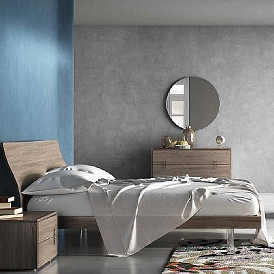 Contemporary, elegant 'Strange' bed by Orme