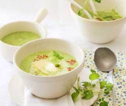 Watercress and Mint Soup with Bacon and Gruyere #valentinesday