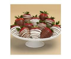 Full Dozen Gourmet Dipped Swizzled Valentine's Day Strawberries - Candy & Chocolates : Strawberries Delivery: When It Has To Please Even The Most Discerning Recipient, Then Look No Further Than Shari's Berries. Each Strawberry Is Individually Dipped And Swizzled Then Gently Tucked Into A Protective Gift Box, Waiting For You To Enjoy.