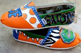 University of Florida Gators painted TOMS.