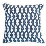 Bandhini Frett Navy Cushion