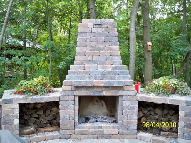 64 best indooroutdoor fireplaces pits images on Pinterest