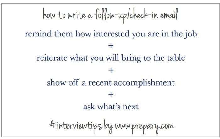 Letter After Interview Interview Follow Up Email Email Writing