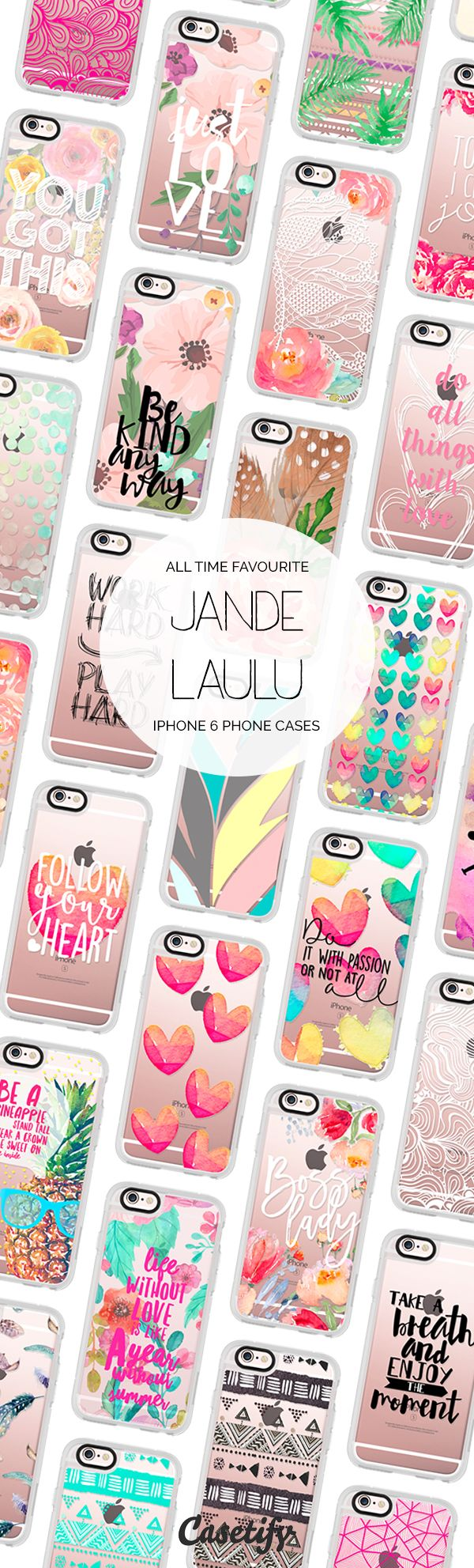 Most popular iPhone 6 protective phone case designs by Jande Laulu | Click through to see more iphone phone case ideas >>> https://www.casetify.com/jande9/collection #floral | @casetify