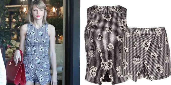 La scelta sbarazzina di Taylor Swift di indossare un mix floreale per far shopping nei mercatini di antiquariato a Agoura Hills, in California, ha conquist http://www.sfilate.it/240850/taylor-swift-spasso-per-negozi-di-antiquariato-con-top-e-skirt-di-neanche-30-dollari