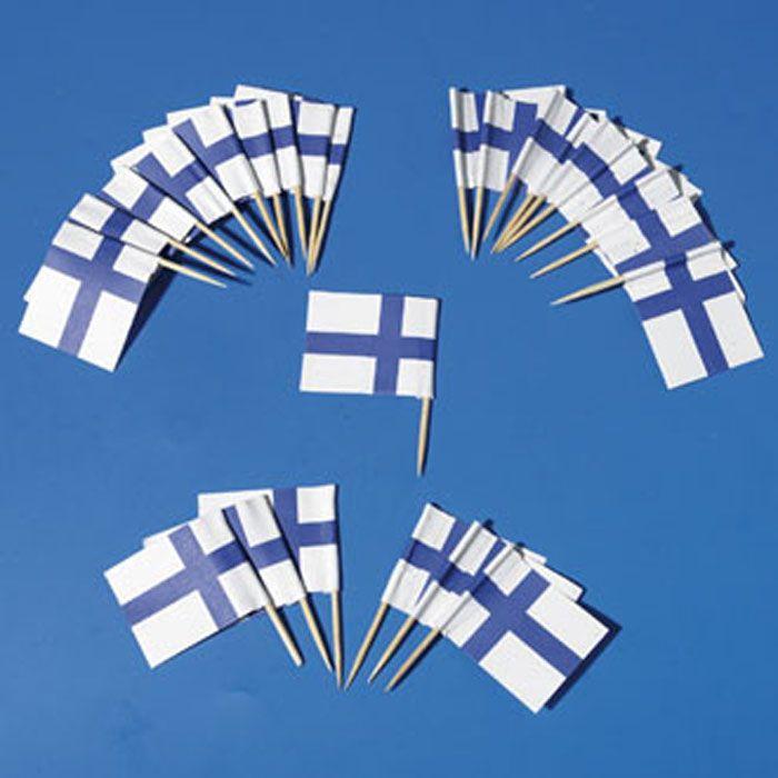 Finland Flag Toothpicks http://www.scandinavianshoppe.com/products/c764-Flags/