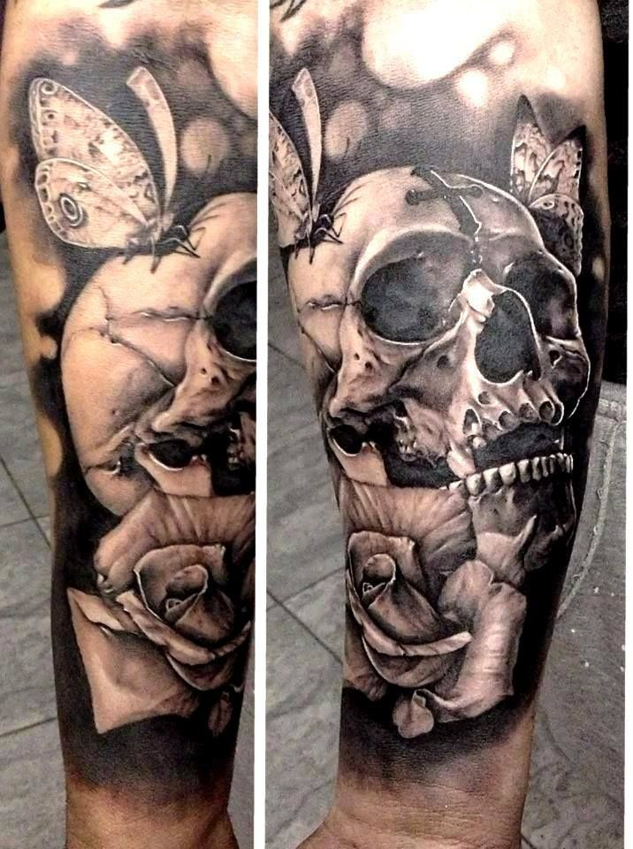 Skull tattoo- This is awesome...wish i knew who tattooed it!