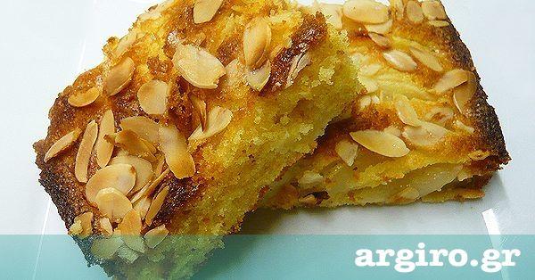 Μηλόπιτα κέικ από την Αργυρώ Μπαρμπαρίγου | Εύκολη και γρήγορη, αφράτη και μοσχομυριστή, μπαίνει στο φούρνο σε 5'. Μια οικονομική και πολύ νόστιμη συνταγή!