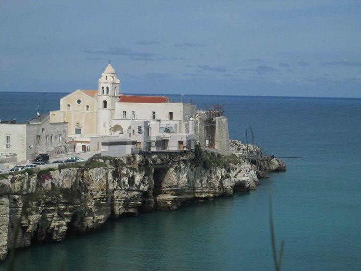 Zoom su San Francesco con relativo #trabucco, un vecchio sistema di pesca #invadiVieste #invasionidigitali