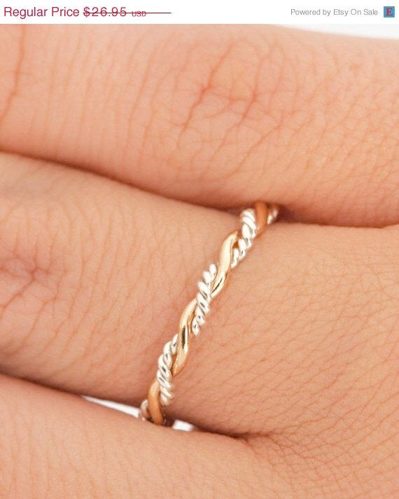 Fall Sale Twist Ring – Stacker Ring – Thumb Ring -…
