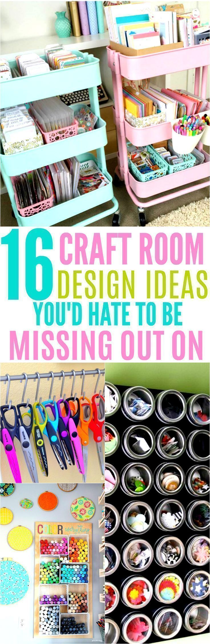 These 16 Craft Room Organization Ideas Are Simply AMAZING! If you are looking to fix up your craft room in the near future, here are some awesome inspirational bloggers to check out!