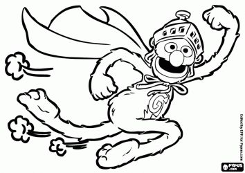 Super grover the superhero of sesame street coloring page for Grover sesame street coloring pages