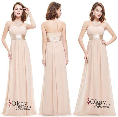 Champagne Prom Dress,Chiffon Prom Dress,Long Bridesmaid Dress,Cheap Prom Dress,Prom Dresses 2016,Simple Prom Dress,PD1229
