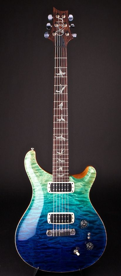 "PRS Paul's Guitar Blue Fade ""Dirty"" Artist Grade Quilt 