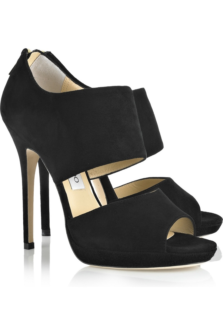 ~Fashion, Jimmy Choo, Black Shoes, Private Suede, Sandals Black, Sandals, High Heels, Suede Sandals, Choo Private