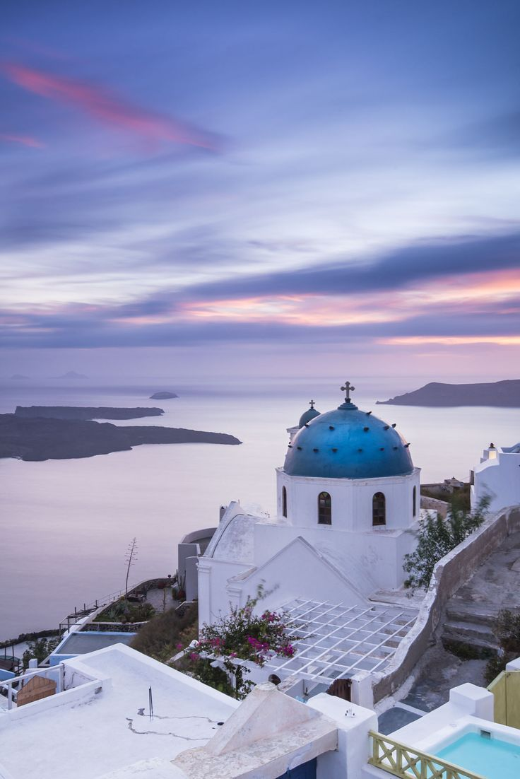 Sunset in Santorini, Greece Destination Wedding Inspiration or Honeymoon Location