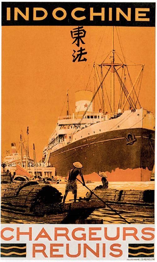 Indochine ~ Compagnie Maritime des Chargeurs Réunis