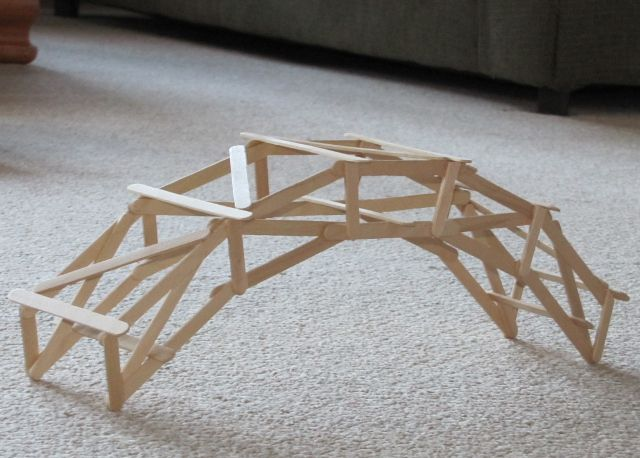 Popsicle Stick Buildings | Basic Arch Popsicle Stick Bridge