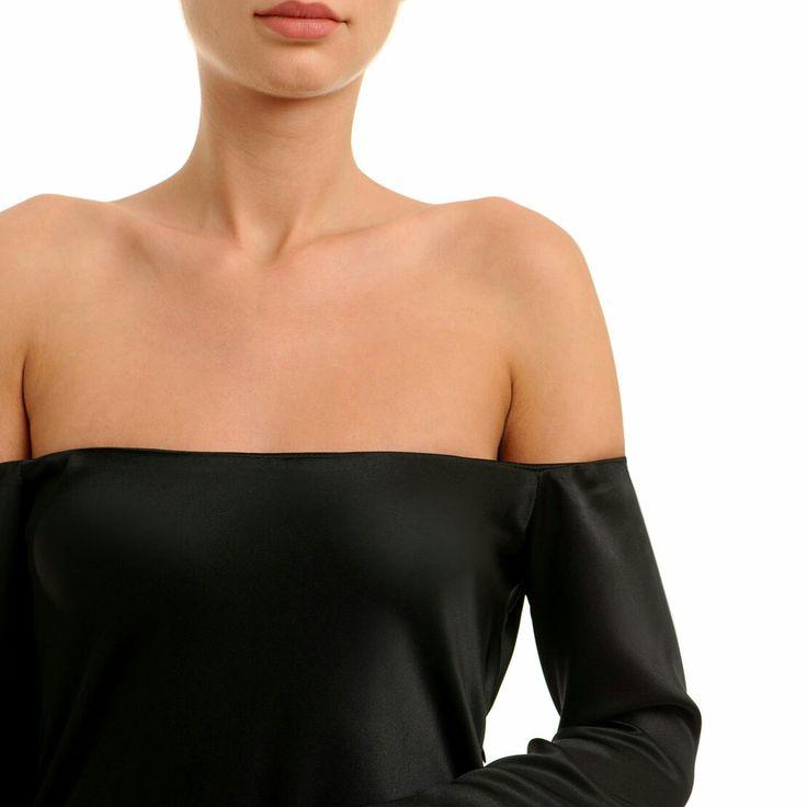 #offshouders #silk #dress