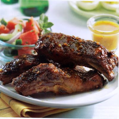 Country Ribs with Mango BBQ Sauce