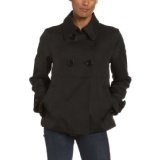 Jones New York Women's Pique Waffle Weave Double Breasted Jacket with Sleeve Tab, Black, Small (Apparel)By Jones New York