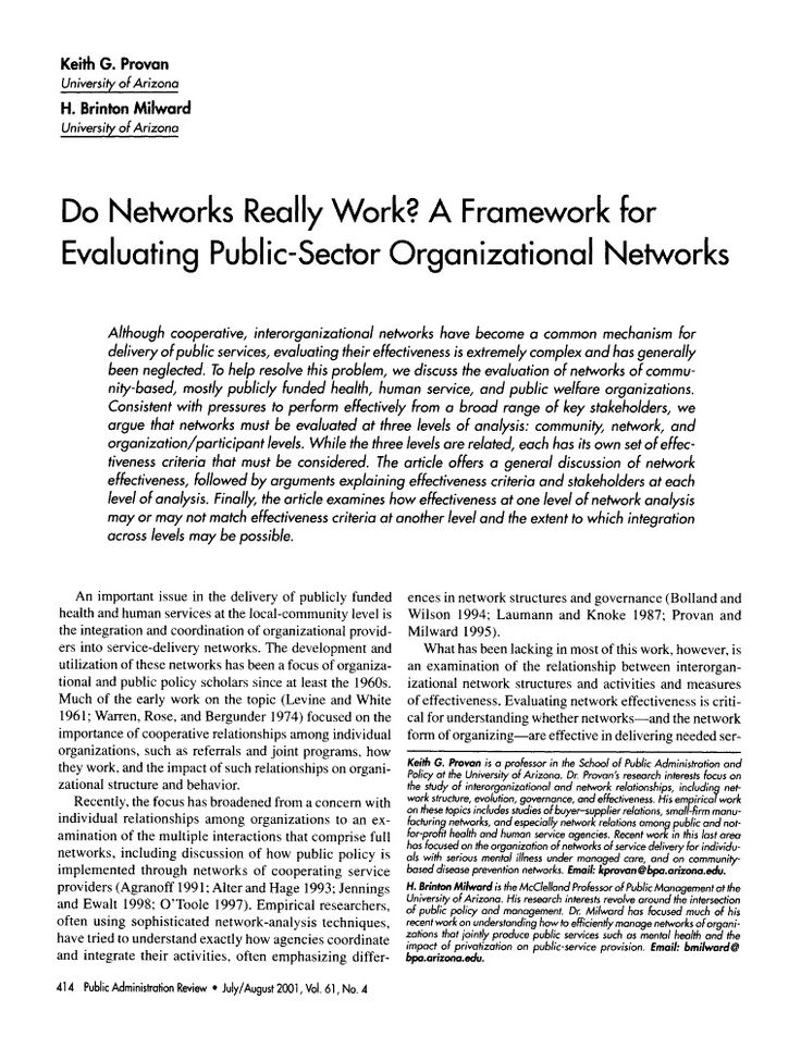 the benefits and possible drawbacks of informal networks for organizations Member organizations of that country each possible social welfare option are suggestions about the relative advantages and disadvantages of different ap-.
