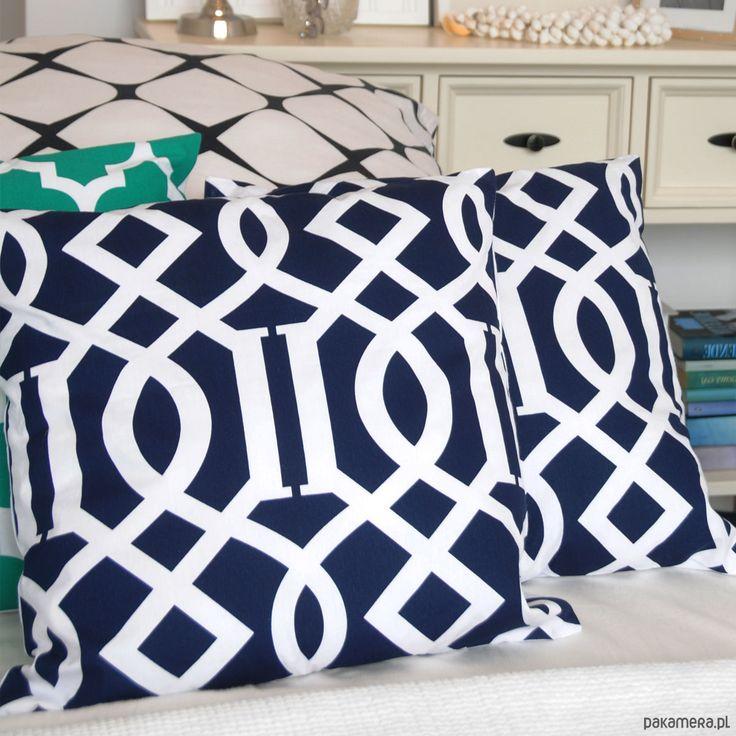 dodatki - poduszki, poszewki-Poduszka dekoracyjna NAVY IMPERIAL