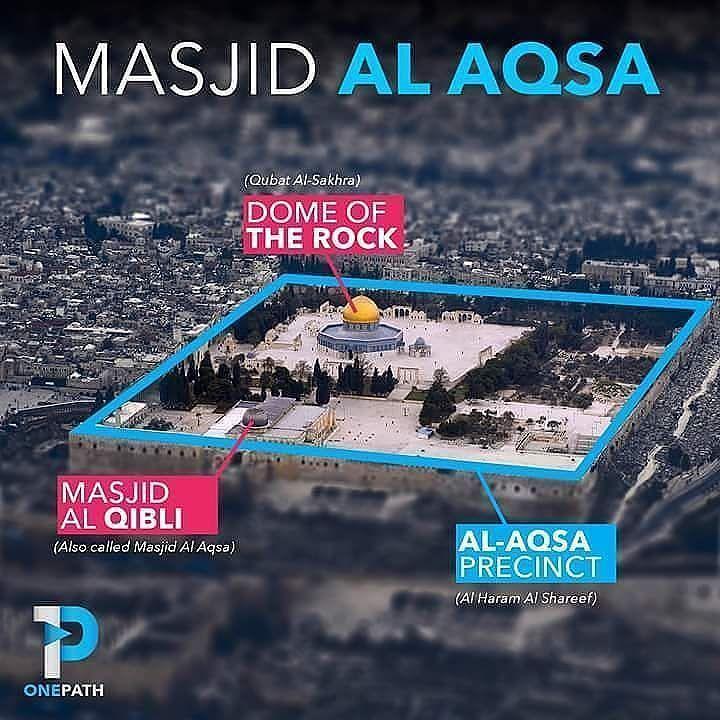 Manakah Yang Disebut Masjid al-Aqsha?  Di sini banyak sekali terjadi kekeliruan ketika disebut Masjid al-Aqsha banyak orang menyangka bahwa Masjid al-Aqsha adalah salah satu bangunan yang ada di sana. Ada yang mengatakan Masjid al-Aqsha adalah bangunan yang memiliki kubah berwarna kehitaman atau perunggu. Pendapat-pendapat yang ada tersebut seakan saling berbenturan dan ada yang mengatakan pencitraan Qubbatu Shakhrakh (Dome of The Rock bangunan dengan kubah berwarna kuning) sebagai Maasjid…