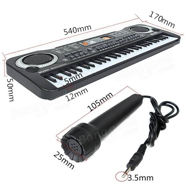 61 Keys Music Electronic Keyboard Key Board Kids Gift Electric Piano Organ Sale - Banggood.com
