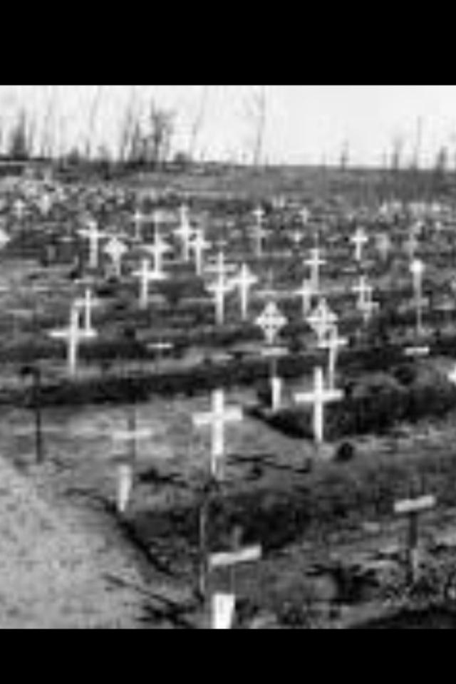"""Black crosses set in a row "" Edith Nesbit"