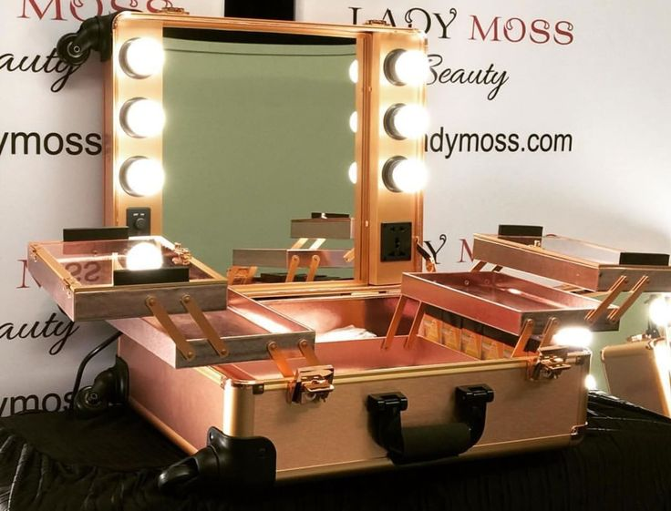 LadyMoss.com | Lighted Makeup Rolling Trolley - Rose Gold