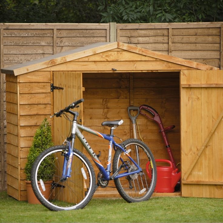 Wood Bike Storage ~ http://lanewstalk.com/tips-on-making-shed-for-your-outdoor-bike-storage/