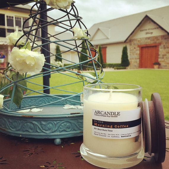 Morning Coffee. Large Soy Candle. by ArcandleSoyCandles on Etsy