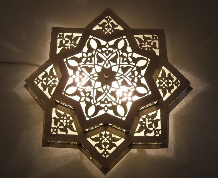 Decorative Star Ceiling Light Semi Flush Bathroom Fixture: Moroccan Flush Mount Star Ceiling Light Fixture Lamp
