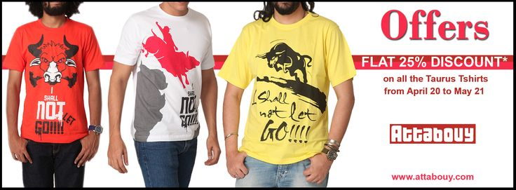 Use Coupon Code ASTRO Get 25% flat discount on all the Astrotees on www.attabouy.com