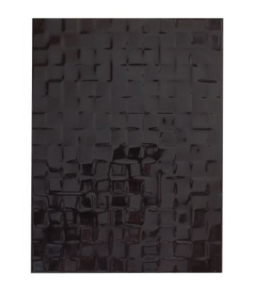 Colours Designer Pack of 8 Abstract Black Wall Tiles (L)400 x (W)300mm, 5010921353579