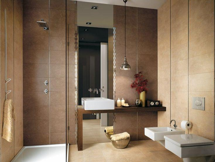 azulejos para baño de color marron
