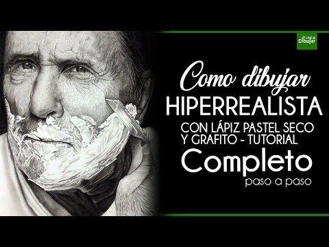 Aprende a dibujar HIPERREALISTA A LAPIZ! Tutorial Completo - Efecto Crema de afeitar - YouTube