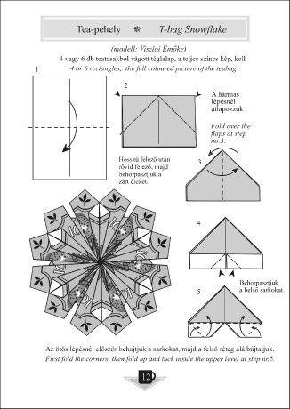Origami egyszerűen - Képgaléria - Diagrammok - Origami a konyhából - From the kitchen - Tea-pehely leírása