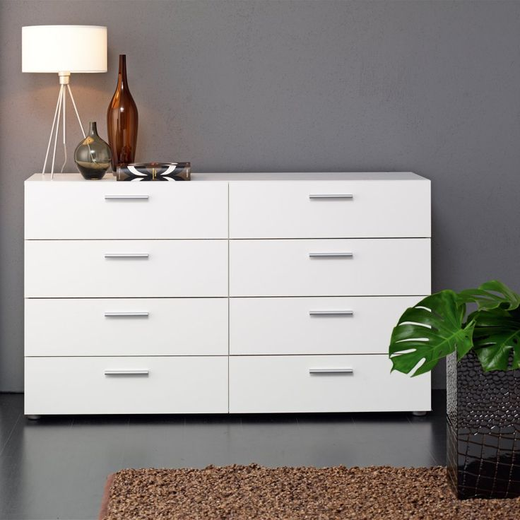 Austin 8 Drawer Double Dresser - The Austin 8 Drawer Double Dresser proves that even small bedrooms can enjoy spacious storage and cool modern style. Crafted in Denmark from environmentally...