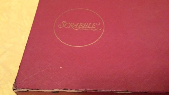Vintage Scrabble Board Game In Original Box By by KressHillVintage