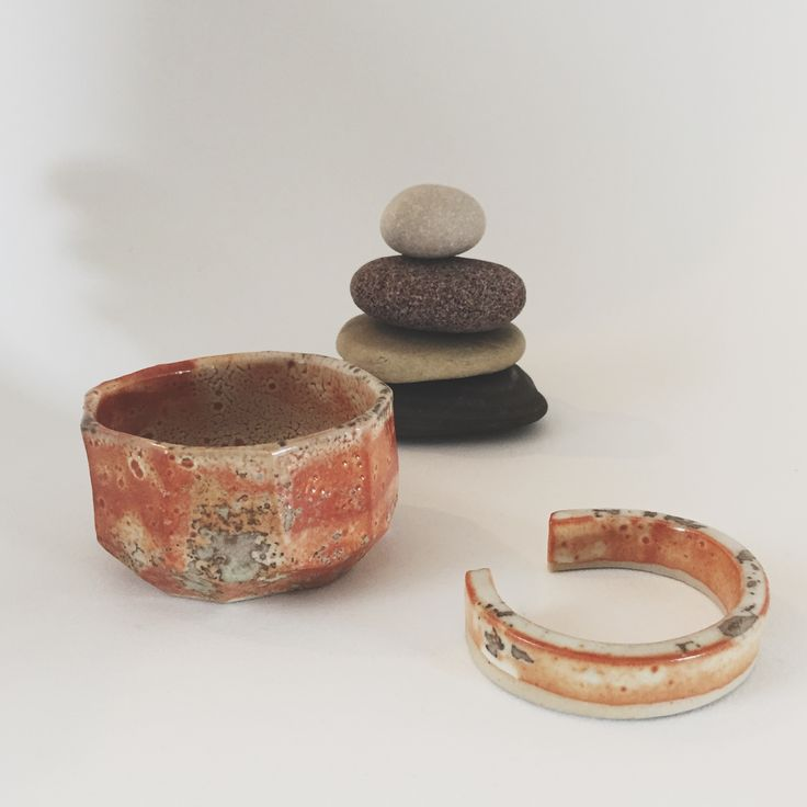 Ceramic dish and matching cuff bracelet by Legalized Pots