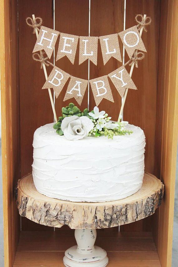 Woodland Theme Baby Bear Baby Shower Cake Rustic Chic With